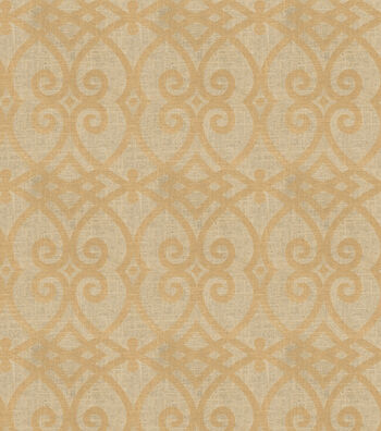 "Jaclyn Smith Upholstery Fabric 54""-Gatework Metallic-Rot/Gold"