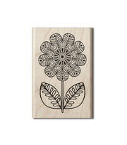 Hampton Art™ Wood Stamp-Coloring Flower, , hi-res