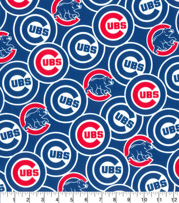 """Chicago Cubs Cotton Fabric 58""""-Packed"""