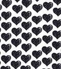 Snuggle Flannel Fabric 42\u0022-Hearts