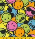 Fleece Fabric 58\u0022-Smiley