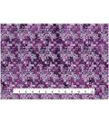 Modern Cotton Fabric 43\u0027\u0027-Mini Packed Shapes on Purple