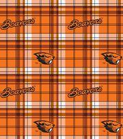 "Oregon State University Beavers Fleece Fabric 58""-Plaid, , hi-res"