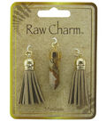 Naturals Raw Charm Tassels And Stone Charms