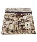 Coats 12\u0022x12\u0022 Eclectic Elements Labels Fabric