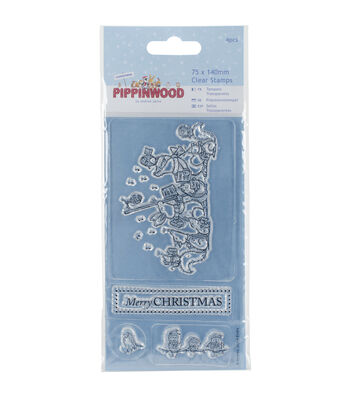 Papermania Pippinwood Mini Clear Stamps-Christmas Singing