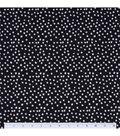 Keepsake Calico Cotton Fabric 44\u0022-Irregular Dots On Black