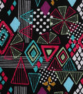 Modern Cotton Fabric 43\u0027\u0027-Geometric Sketches on Black
