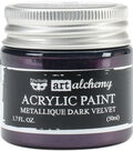 Prima Marketing Art Alchemy 1.7 oz. Acrylic Paint-Metallique Dark Velvet