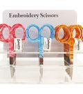 Patterned Handle Embroidery Scissors 4\u0022 Display-Optical Swirl Design
