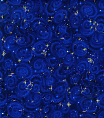 "Premium Cotton Fabric 44""-Stars Midnight"