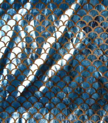 """The Witching Hour Costume Fabric 58""""-Mermaid Foil Blue"""