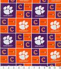 Clemson University Tigers Cotton Fabric 43\u0022-Block