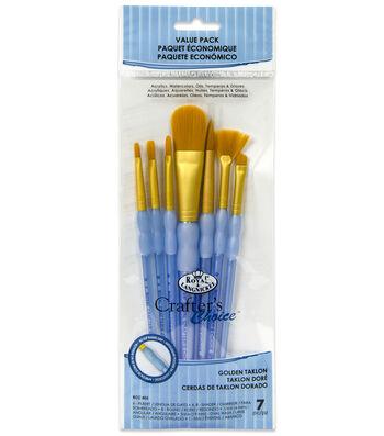 Royal & Langnickel® Variety Brush Set 7pk-Golden Taklon