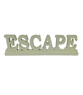 Escape To Paradise Wooden Table Decor-Escape