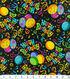 Novelty Cotton Fabric 44\u0022-Birthday Black
