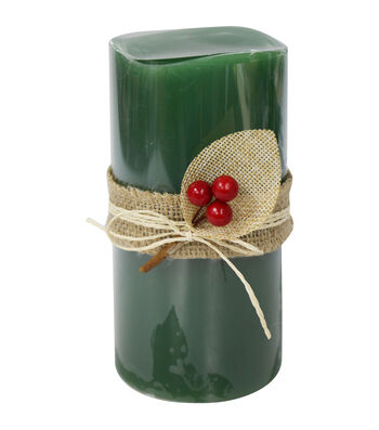 Maker's Holiday Christmas 3''x6'' LED Candle-Green