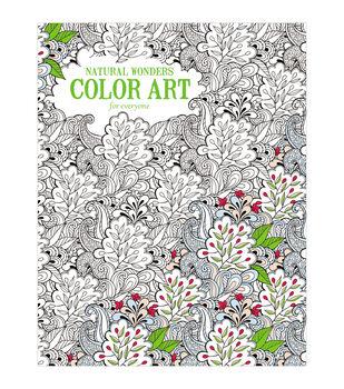 Adult Coloring Book Leisure ArtsNatural Wonders