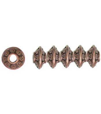 Cousin Jewelry Basics 6mm Rondelle Beads 45/Pkg-Copper