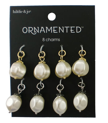 hildie & jo™ Ornamented 8 Pack Silver & Gold Charms-Pearl