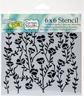 Crafter\u0027s Workshop Carmen Medlin Template 6\u0027\u0027x6\u0027\u0027-Wild Blooms