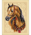 Arabian Horse Stamped Cross Stitch Kit 14 Count