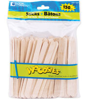 "Simply Art Wood Craft Sticks-Natural 4.5"" 150/Pkg, , hi-res"