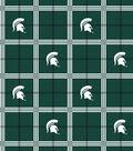 Michigan State University Spartans Flannel Fabric 42\u0022-Plaid