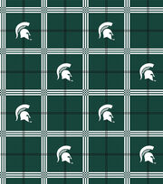 "Michigan State University Spartans Flannel Fabric 42""-Plaid, , hi-res"
