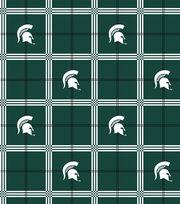 "Michigan State University Spartans Flannel Fabric 42""-Plaid, , hi-res"