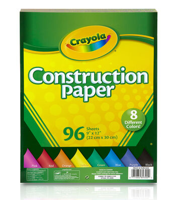 "Crayola Construction Paper Pad 9""X12""-96 Sheets"