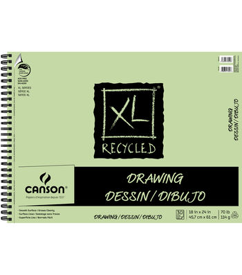 Canson® 30 Sheets 18''x24'' XL Recycled Drawing Pad