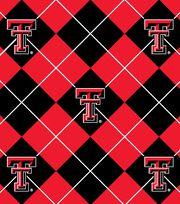 "Texas Tech University Red Raiders Fleece Fabric 58""-Argyle, , hi-res"