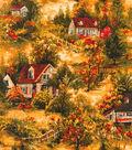 Harvest Cotton Fabric 44\u0022-Fall Countryside