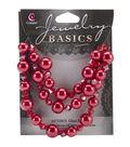 Jewelry Basics Pearl/Crystal Bead Mix 8mm/10mm 51/Pkg-Red