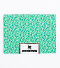 Quilt Block of the Month Cotton Fabric 18\u0022-Green Pyramid