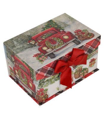 Maker's Holiday Small Fliptop Box-Holiday Truck