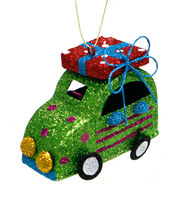Maker's Holiday Christmas Whimsy Workshop Glitter Car Ornament-Green, , hi-res