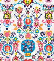 "Alexander Henry Cotton Fabric 44""-Calaveras Del Mar Natural, , hi-res"