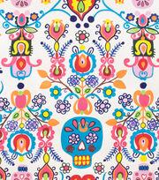 "Alexander Henry Cotton Fabric 44""-Calaveras Del Mar Natural, , hi-res"