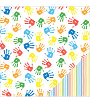 American Crafts School Handprints Double-Sided Cardstock, , hi-res