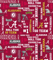 "University of Alabama Crimson Tide Cotton Fabric 44""-Glitter, , hi-res"