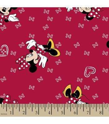 Disney® Minnie Mouse Print Fabric-Giggles