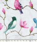 Keepsake Calico Cotton Fabric-Birds On Branches Blue