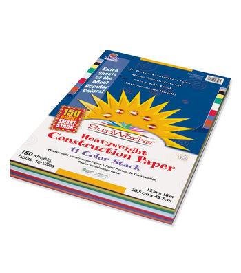 "SunWorks Construction Paper Smart-Stack Assortment 12""x18"""