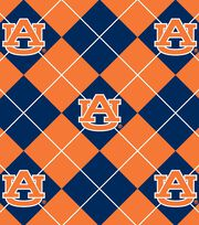 "Auburn University Tigers Fleece Fabric 58""-Argyle, , hi-res"