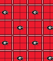 "University of Georgia Bulldogs Flannel Fabric 42""-Plaid, , hi-res"