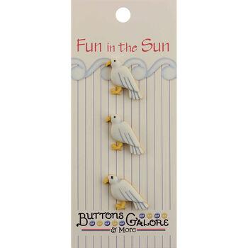 Fun In The Sun Buttons-Seagull