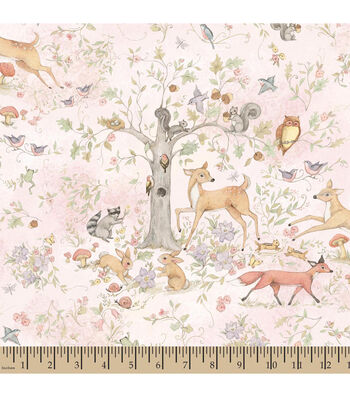 "Susan Wignet Cotton Fabric 43""-Woodland Buddies"