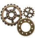 Steampunk 20 pk Gear Buttons-Antique Gold